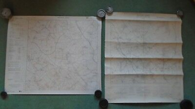 "TWO Ordnance Survey maps 6"" ST13NW 1962 SW1967 Bicknoller Crowcombe Tolland"