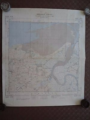 Rare Ordnance Survey Map ST24 Stert Point 1967 Hinkley Point Combwich Stogursey