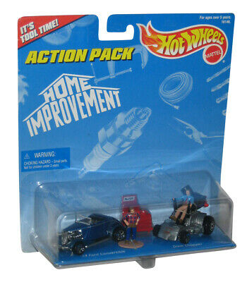 Home Improvement Action Pack Toy Car Figure Set - ('33 Ford Convertible / Dixie