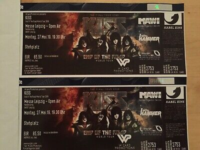 2 Tickets Kiss Arena Leipzig 27.05.2019