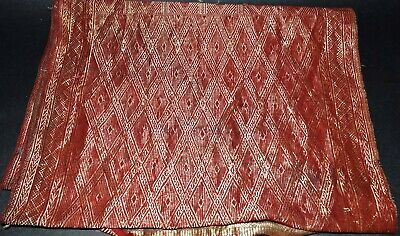 Sumatra Indonesia   Selendang  Embroidered Silk & Gold Thread , Circa. 1920