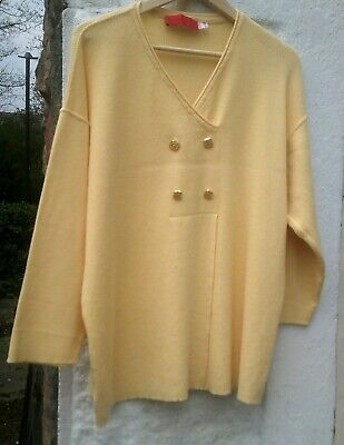 Dorothee Bis Vintage French Designer Merino Wool Top Oversized Medium 14-16