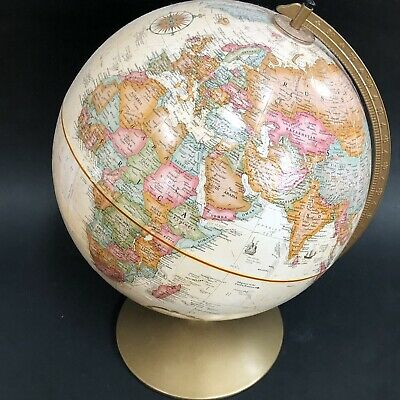 "Vintage REPLOGLE  12"" Diameter Globe World Classic Series w/ Metal Base"