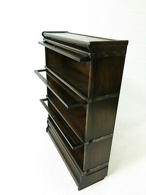 Antique Globe Wernicke 3 tier modular stacking barristers bookcase #2377L
