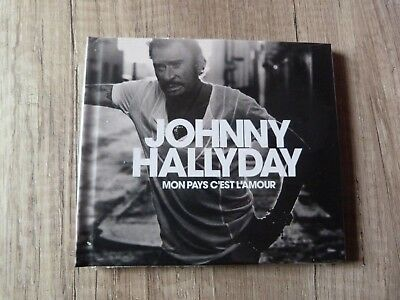 CD JOHNNY HALLYDAY Mon pays c'est l'amour Ed.collector CD livre 28 pages neuf