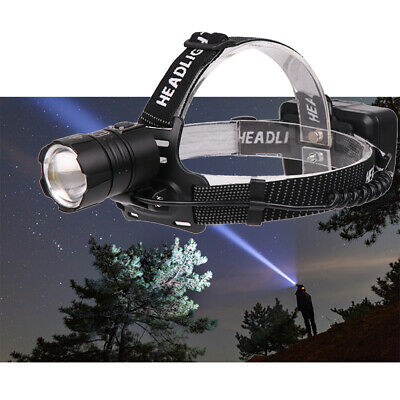 Headlamp Flashlight 90000 lumens pretty 18650 led tactical rechargeable Strong