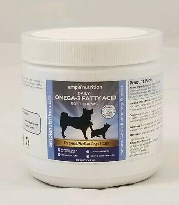 Ample Nutrition Daily OMEGA 3 FATTY ACID Soft Chews 60 Ct