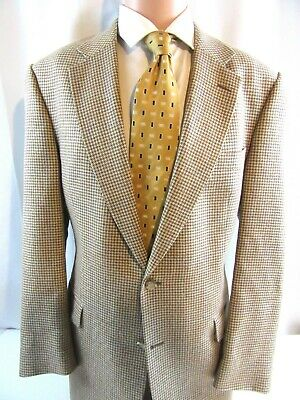 Mens Jos A Bank Spring wool/linen/silk blend Houndstooth Sport Coat Blazer 42 L