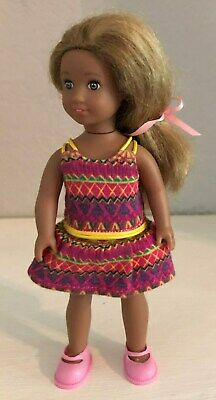 American Girl Mini Doll Lea Orginial Outfit + an Adorable Pink Dress, Pink Shoes