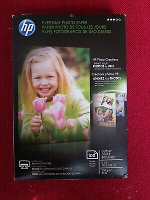 HP Everyday Glossy Photo Paper - 100 Sheets 4 x 6 in CR759A
