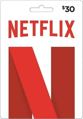 Netflix Gift Card $30 (USA) (Email Delivery)