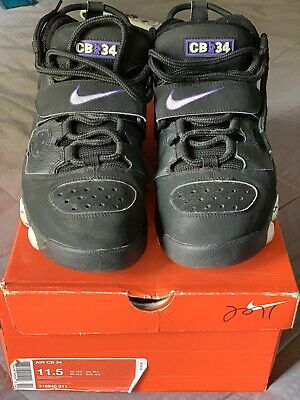 low priced cd934 92035 2007 Nike Air CB 34 Godzilla Barkley Blk purp Size 11.5 Great Repaint  Project!