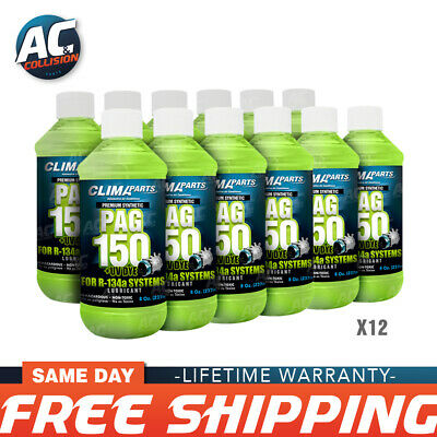 Premium Synthetic AC Refrigerant Oil PAG 150UV Vis 8oz. for R134a Systems 12 Uni