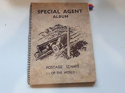 Old Special Agent Stamp Album :  World Collection- Over 1000 Used Stamps.