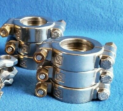 """1.5"""" Tri Clamp Sanitary High Pressure Clamp Lot (6) Stainless"""