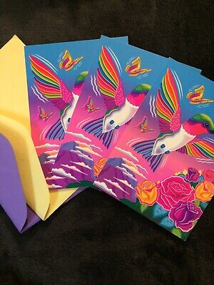 LISA FRANK NOTE Cards And Birthday Invitations Lot Of 7Mixed