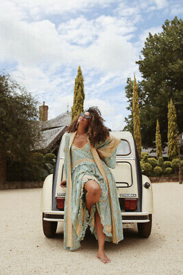 Spell & the Gypsy Collective MAISIE Strappy Dress Antique Turquoise Medium BNWT