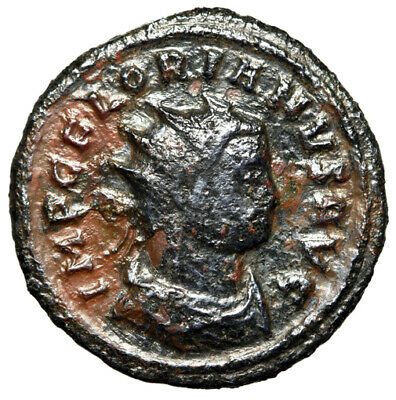 """RARE ROMAN EMPEROR Florian Coin """"Portrait With Crown"""" 276 AD CERTIFIED GENUINE"""