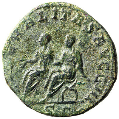 """HIGH QUALITY Sestertius Roman Coin of Philip II """"Father & Son"""" CERTIFIED Large"""