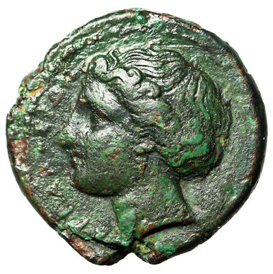 """HIGH QUALITY Greek Coin Syracuse Sicily """"Kore, Bull"""" CERTIFIED AUTHENTIC Genuine"""