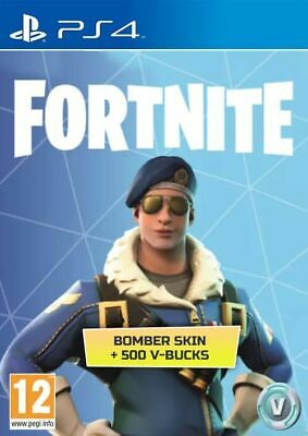 ⬇️Digital Download 🎮Ps4 Fortnite Royale Bomber Skin + 500 V-Bucks Europe 🎮