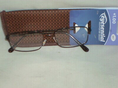 Eyesential (Foster Grant) Reading Glasses +1.00 Brown/Case                EE-1TB