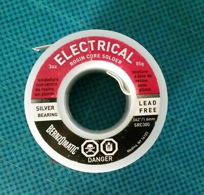 1.6mm Bernzomatic Lead Free Electrical Solder Wire