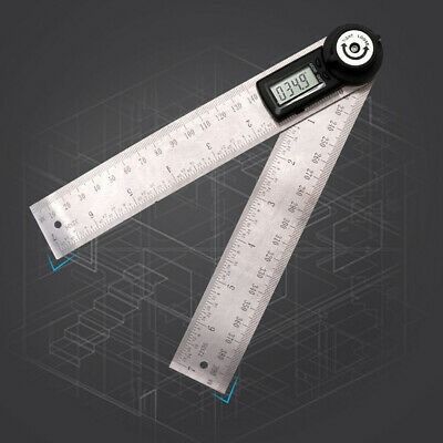 Digital Stainless Steel Angle Finder Meter Protractor with Moving Blade Ruler