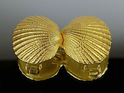 Vintage Shell Paquette Gold plated Belt buckle Exc. Condition