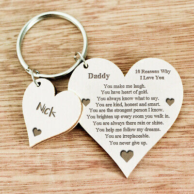 Personalised Fathers Day Gift for Daddy Grandad Dad Uncle Christmas Keyring U28