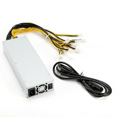 1600W AntMiner APW3++ Power Supply Support S9 S7 L3+D3 Antminer Miner Mining US
