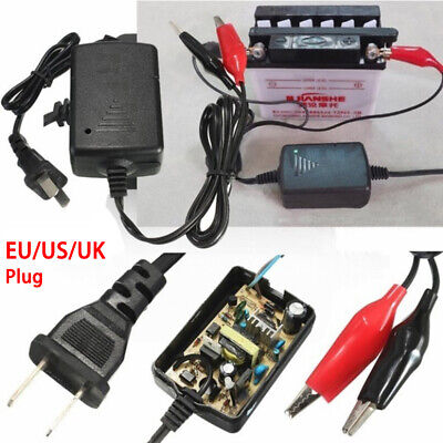 Electrombile US/EU Plug Car Auto Truck Charging Smart Compact  Battery Charger