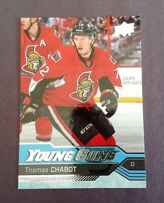 2016-17 Upper Deck Thomas Chabot #488 Rookie Card Young Guns Series 2 UD RC