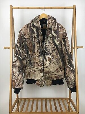 0aa422908b279 Carhartt Men's Camouflage Quilted Lined Active Hooded Jacket J221 Size L