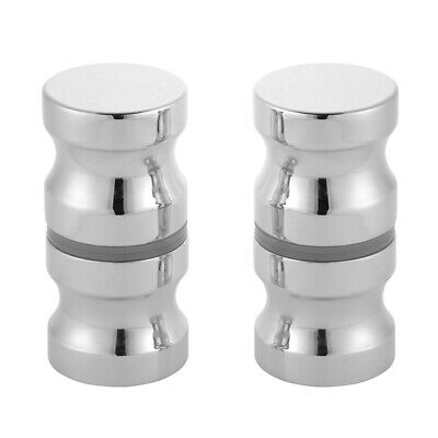2pcs Solid Handle Knobs Back-to-Back Pull for Bathroom Shower Glass Door HS1278