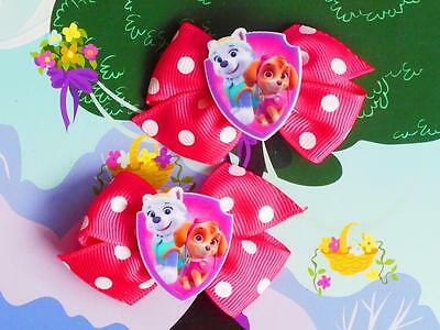 Paw Patrol Skye Everest Pup Dog Puppy Inspired Handmade Dress Costume Hair Clip