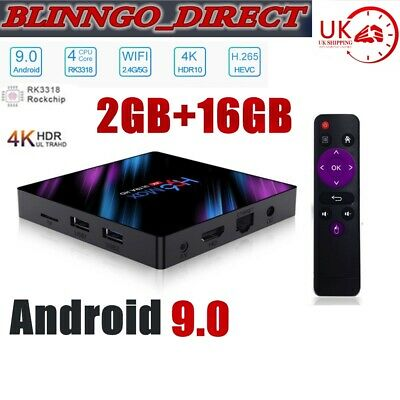 H96 MAX RK3318 2019 Android 9.0 Chip 2GB+16GB Quad Core 4K BT 4.0 Top LED TV Box