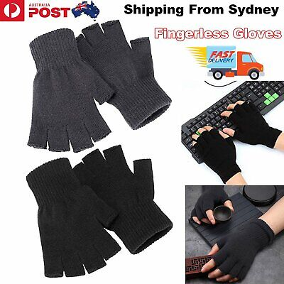 Winter Fingerless Gloves Open Fingertips Warm Half Finger Knitted Unisex Gloves