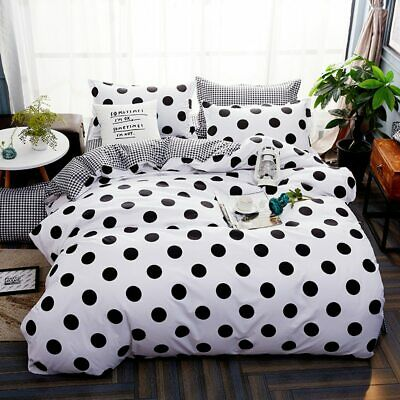 Wave point Bed Linen Bedding Set Home Textiles 3/4pc Family Set Include Bed