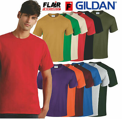 5 PACK Mens Gildan Heavy Cotton™ Adult T-Shirt, 100% Cotton  Multi Colours S-2XL