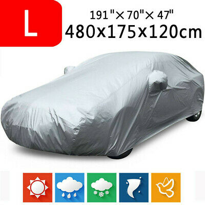 Large Heavy Duty Waterproof Full Car Cover UV Protection Sun Snow Dust Resistant