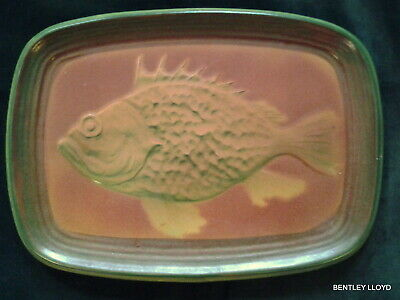 Antique French  'St.CLEMENT' Rare Fish Platter