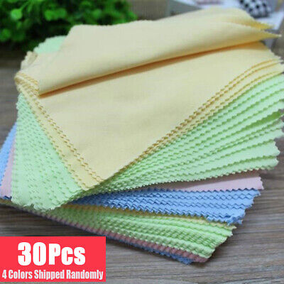 30 x Microfiber Cleaning Cloth Camera Lens Phone Screen Glasses LCD Soft Cleaner