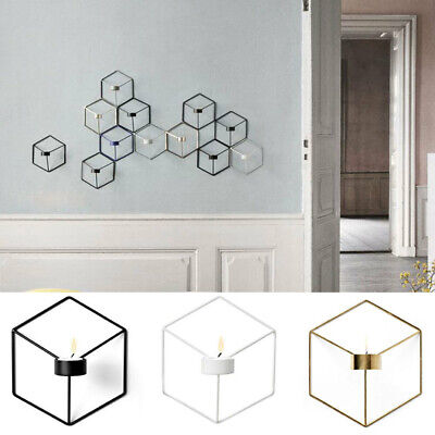 3D Geometric Candlestick Metal Wall Candle Holder Sconce Home Decor  ^S