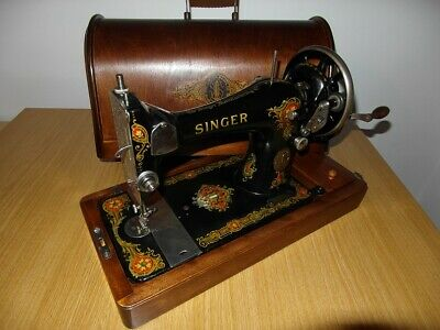 Antique Singer Sewing Machine Model 128K With La Vencedora Decals