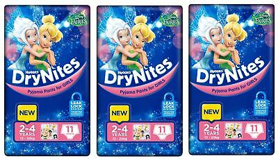 Huggies DryNites Girls 2-4yrs 13-20kg BULK 3x11