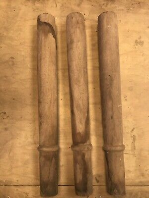 Selection of Turned Solid Oak Table Legs/Posts Ready to Finish