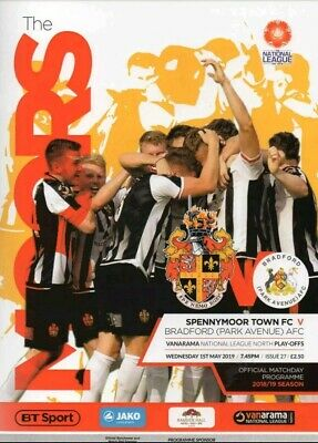 Spennymoor Town vs Bradford Park Avenue 2019 National North Play Off Programme