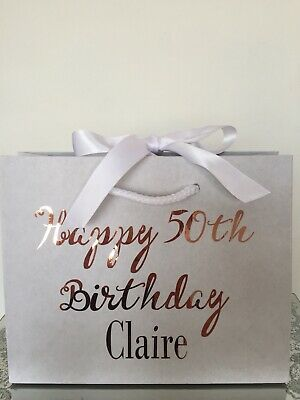 Personalised Aged Birthday Gift Bag Box 18th 21st 30 40 50 60 Any Name - Age Bag
