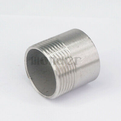 "1-1/4"" BSP Female  304 SS Pipe Fitting Weld Nipple Coupling Connector Water"
